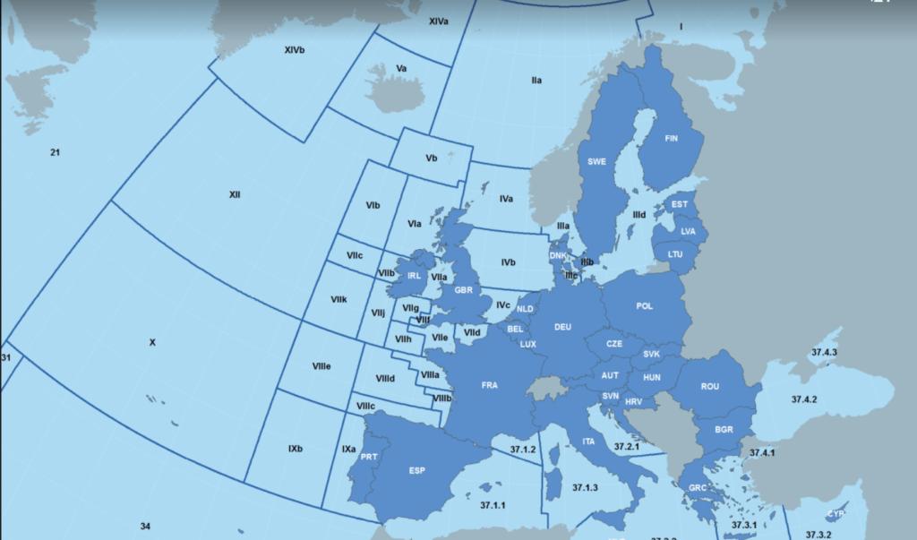 Fishing Zones in the North Atlantic