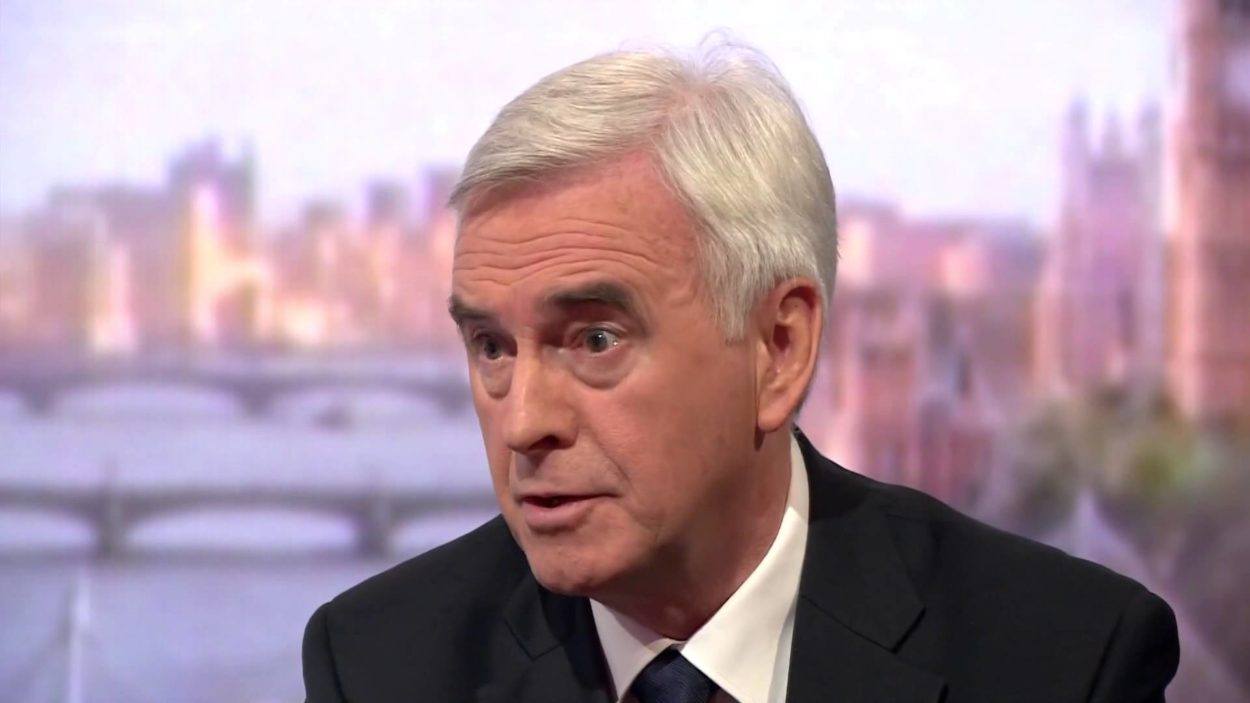John McDonnell realises Brexit will allow politicians to think freely again; when will others catch up?