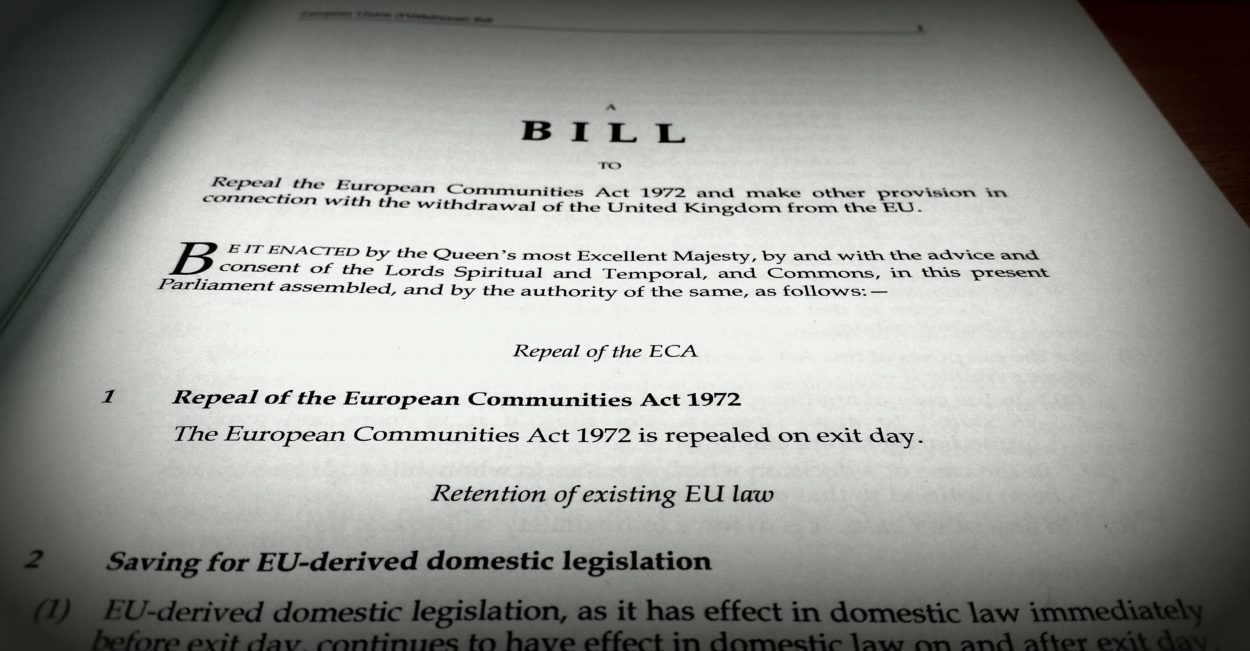 The EU Withdrawal Bill – procedural not political