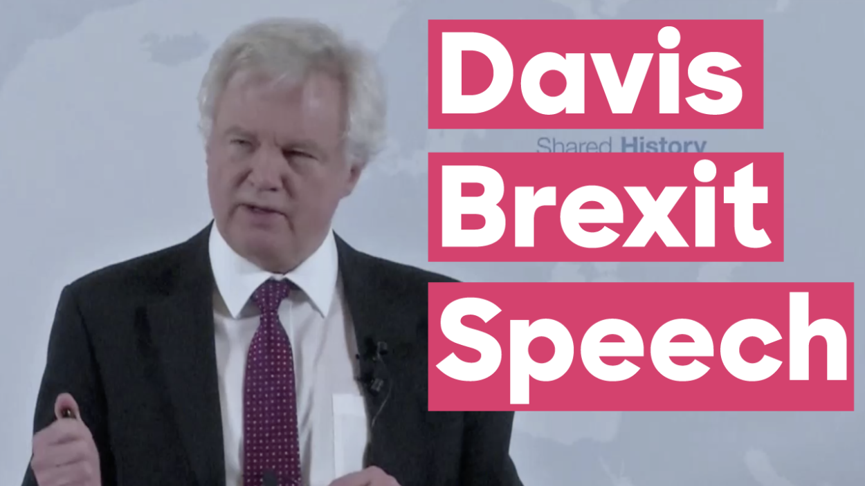 Full text of David Davis's Road to Brexit speech: Delivering our future economic partnership