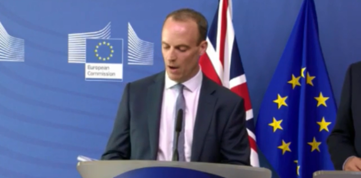 Tentative Brexit divorce deal collapses after Raab and Barnier meeting: Brexit News for Monday 15 October