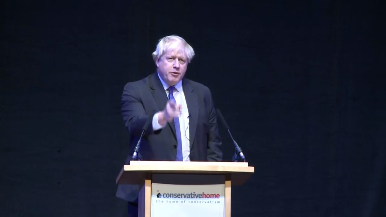 Boris Johnson speech to Conservative Party Conference