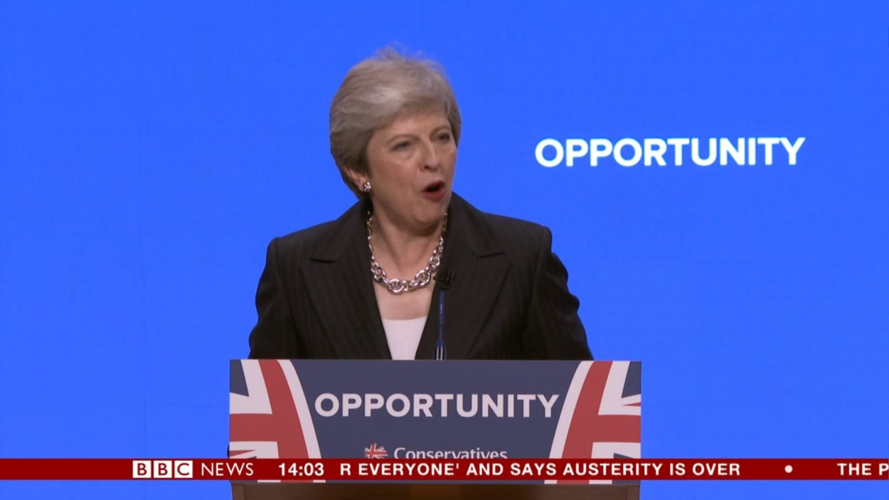 Theresa May's speech to Conservative Party Conference