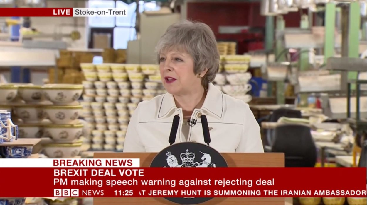 """Theresa May's Stoke speech: """"We all have a duty to implement the result of the referendum"""""""