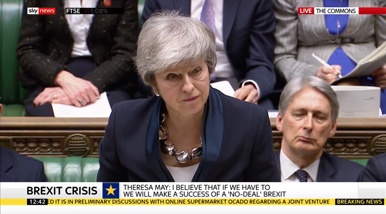 Theresa May's statement to the House of Commons on future votes and Article 50 extension