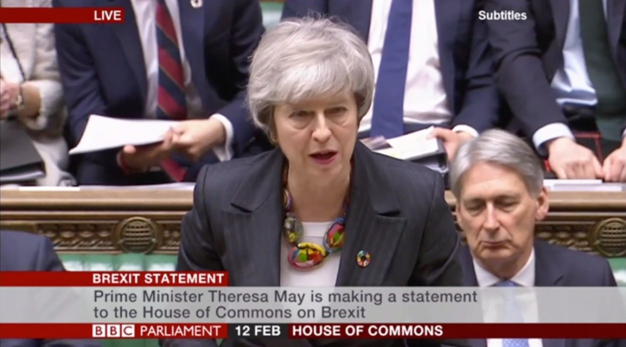 Theresa May tells MPs to hold their nerve so she can get the changes they require to the Withdrawal Agreement