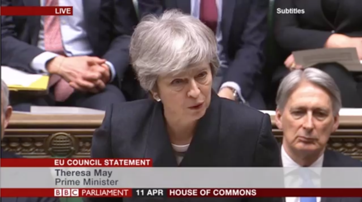 Theresa May's full statement on the European Council & Article 50 extension