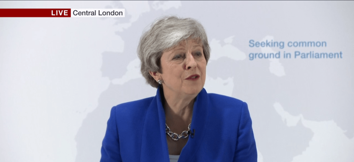 "Full text of Theresa May's speech introducing her ""new Brexit deal"""