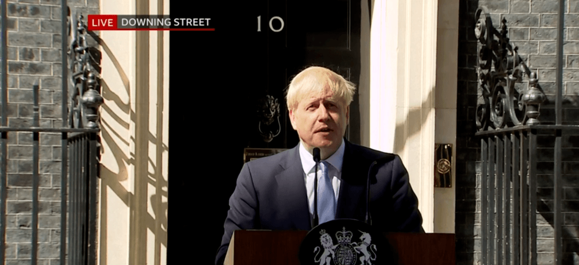 "New PM Boris Johnson promises to ""restore trust in our democracy"" and leave the EU on October 31st – ""no ifs or buts"""