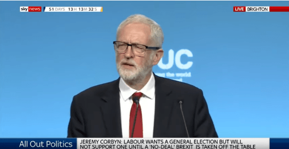 Jeremy Corbyn says Labour would offer 'a credible Leave option' in a second referendum: Brexit News for Wednesday 11 September