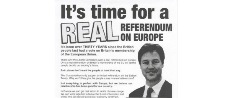 The hypocritical Lib Dems want to ignore the result of the Brexit referendum they demanded a decade ago