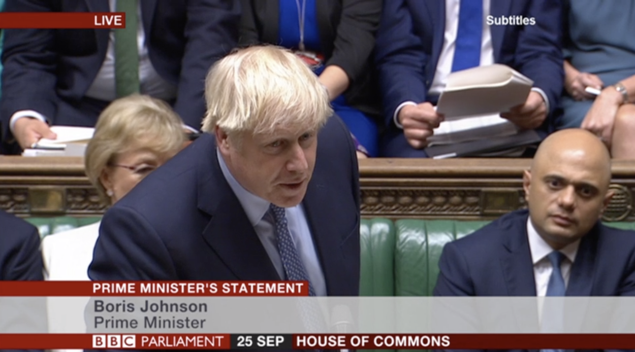 Prime Minister Boris Johnson's statement on Brexit to the House of Commons