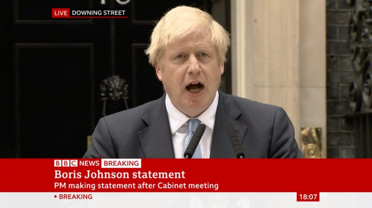 "Boris Johnson tells the nation there are ""no circumstances"" in which he will ask Brussels to delay Brexit"