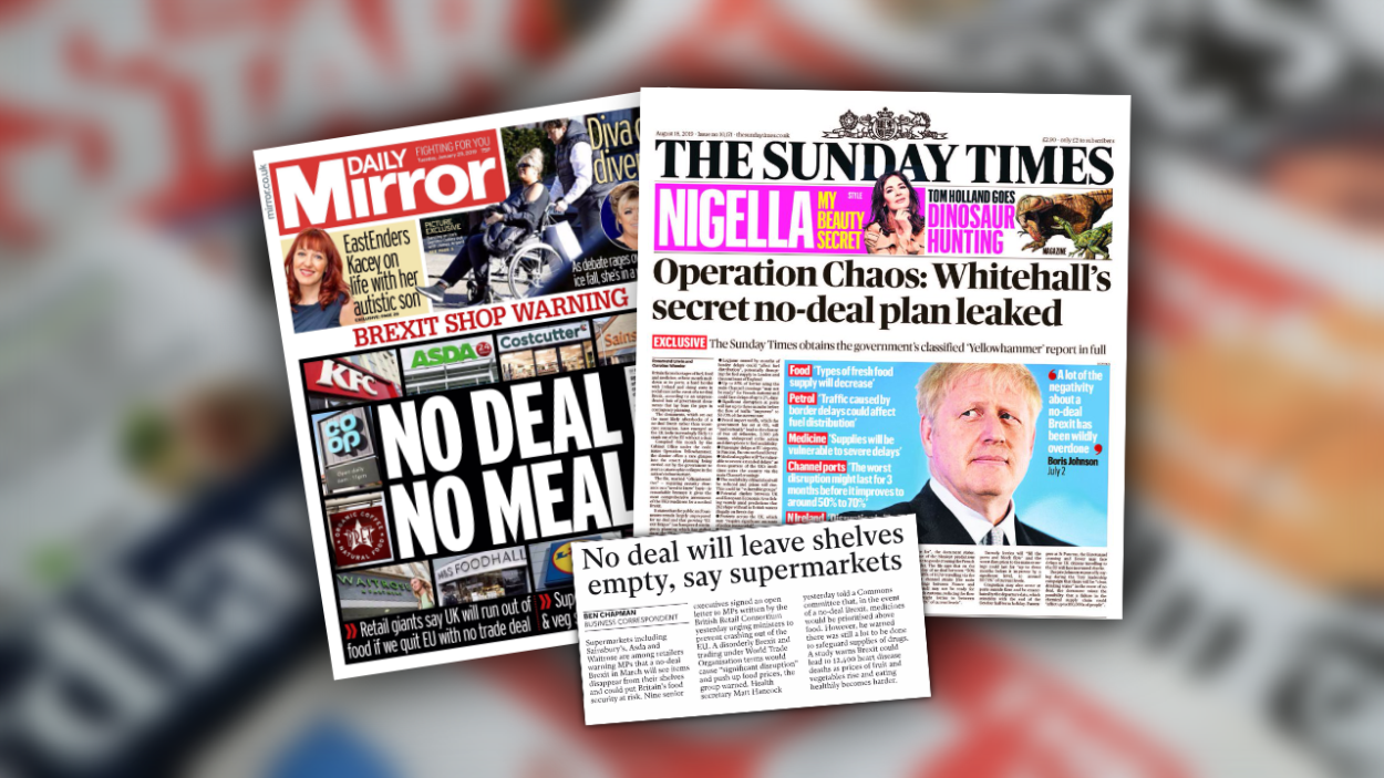 Irresponsible media coverage of no-deal planning risks creating problems where none exist